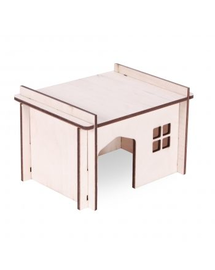 PET INN Căsuță din lemn demontabilă simplă 5