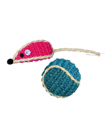 TRIXIE Șoarece și minge cu sisal, 5cm