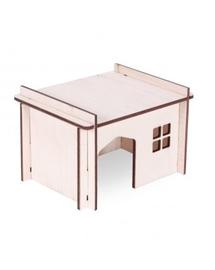 PET INN Căsuță din lemn demontabilă simplă 4