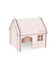 PET INN Căsuță din lemn demontabilă cu acoperiș înclinat 2