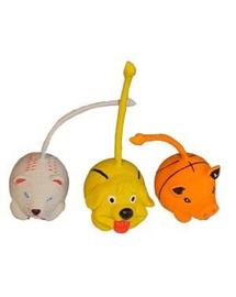 TRIXIE Jucării mingi animăluțe 6cm - cutie 15 buc.