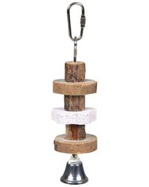 TRIXIE Jucărie din lemn cu clopoțel 16 cm