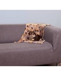 TRIXIE Pătură fleece Laslo 100 × 70 cm, bej