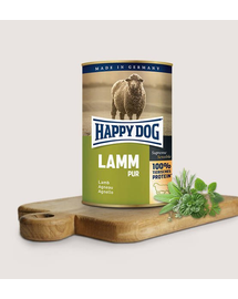 HAPPY DOG Lamm Pur cu miel 400 g