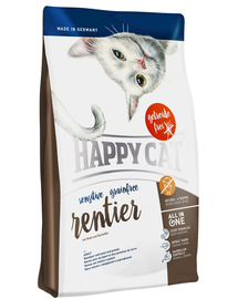 HAPPY CAT Sensitive Grainfree Ren, Vită și Cartofi 4 kg