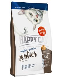 HAPPY CAT Sensitive Grainfree Ren, Vită și Cartofi 1,4 kg