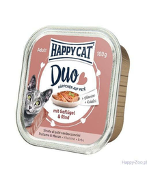 HAPPY CAT pate pui și vită 100 g