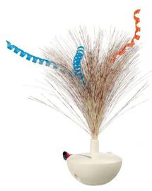 TRIXIE Jucărie cu baterii pene rotitoare Feather Wobble