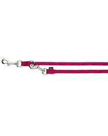 TRIXIE Lesă control Sports Rope L–XL: 2.00 M/O 13 mm, fucsia