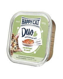 HAPPY CAT Duo pate pui și miel 100 g