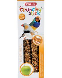 ZOLUX Crunchy Stick pentru păsări exotice - mei / măr 85 g