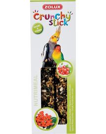 ZOLUX Crunchy Stick pentru papagali mari - coacăze / măceșe 115 g