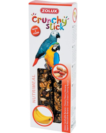 ZOLUX Crunchy Stick pentru papagali - migdale / banane 115 g