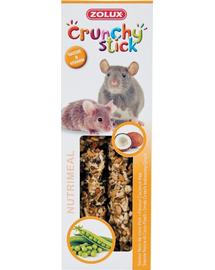 ZOLUX Crunchy Stick pentru șobolani și șoareci - cocos / mazăre 115 g