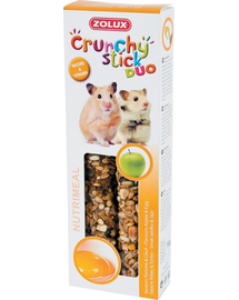ZOLUX Crunchy Stick pentru hamster  -măr 115 g