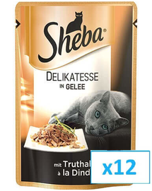 SHEBA Delikato curcan în aspic 85 g x12