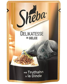 SHEBA Delicacy in Jelly curcan 85 g