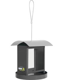 ZOLUX Hrănitor dreptunghiular cu acoperiș metalic gri