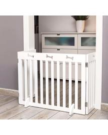 TRIXIE Gărduleț de protecție din lemn 3 părți 82–124 × 61 cm alb