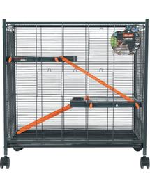 ZOLUX Cușcă Indoor Mini Loft 430X720X730 mm color gri / portocaliu