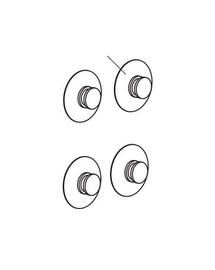 AQUAEL Cupă de aspirație d=24 mm 4 buc.