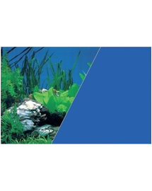 ZOLUX Fundal cu două fețe pentru acvariu 60 x 120 cm plante roci / albastru