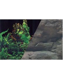ZOLUX Fundal cu două fețe pentru acvariu 50 x 80 cm plante negru /roci