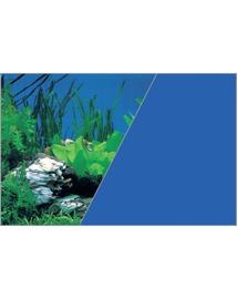 ZOLUX Fundal cu două fețe pentru acvariu 50 cm x 15 M plante albastru
