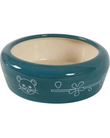 ZOLUX Bol Ceramic pentru rozătoare - împiedică scurgerea apei și hranei 200 ml culoare blue