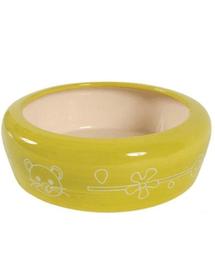 ZOLUX Bol Ceramic pentru rozătoare - împiedică scurgerea apei și hranei 200 ml culoare aquamarin