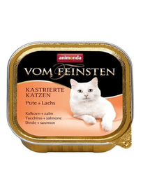 ANIMONDA Vom Feinsten Pisici Castrate Curcan și Somon 100 g