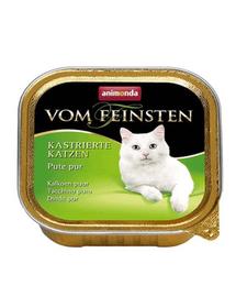 ANIMONDA Vom Feinsten cu curcan pentru pisici sterilizate 100 g