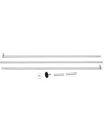 TRIXIE Set montare plasă de protecție fără găurire 1,28-3,25m