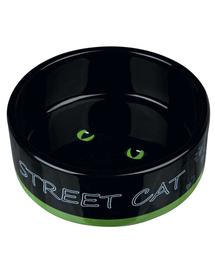 TRIXIE Bol Ceramic pentru pisici Street Cat 0,3 l/12 cm