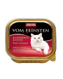 ANIMONDA Vom Feinsten Pisici Castrate Curcan și Roșii 100 g