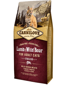 CARNILOVE Cat Grain Free Lamb&Wild Boar Adult Sterilised 2 kg