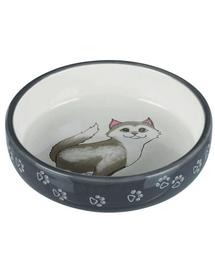 TRIXIE Bol ceramic pentru pisici cu bot turtit 0.3 l/15 cm