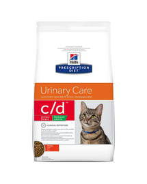 HILL'S Prescription Diet Feline c/d Stress Reduced Calorie Chicken 8 kg