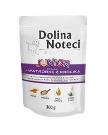 DOLINA NOTECI Premium Junior Hrană umedă bogată în ficat de iepure 300g