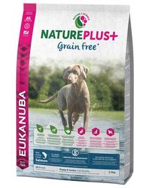 EUKANUBA Nature Plus+ Puppy & Junior - bogat în miel proaspăt înghețat 2,3 kg