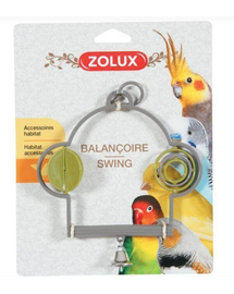 ZOLUX Leagăn plastic cu jucărie și clopoțel