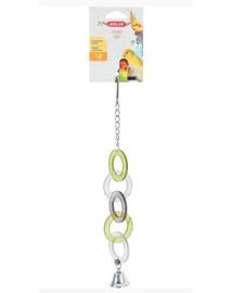 ZOLUX Jucărie acril inele cu clopoțel pe lanț