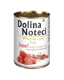 DOLINA NOTECI Premium Pure cu vită și orez brun 800g
