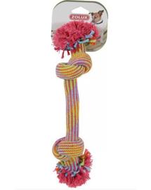 ZOLUX Jucărie sfoară 2 noduri - colorată 30 cm