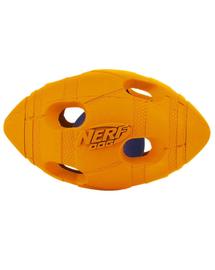 NERF Minge de fotbal chițăitoare LED  mică verde / portocaliu