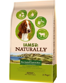 IAMS Naturally Adult Dog cu Miel și Orez 2,7 kg