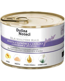 DOLINA NOTECI Premium Junior Talie Mică, cu ficat de iepure și cerb 185g