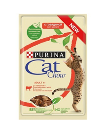 PURINA Cat Chow Adult vită și vinete 85 g
