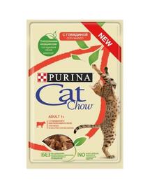 PURINA Cat Chow Adult vită și vinete 85 g