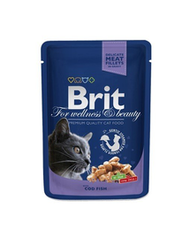 BRIT Premium Cat Adult pește cod 100 g